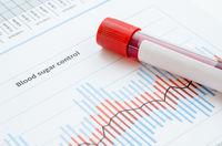 Sample blood for screening diabetic test in blood tube.