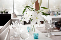 Lily flowers bridal decoration