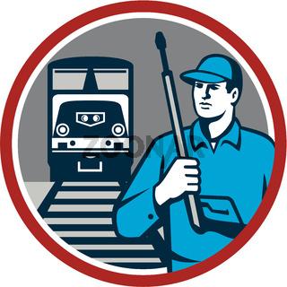 Pressure Washer Train Rail Circle Retro