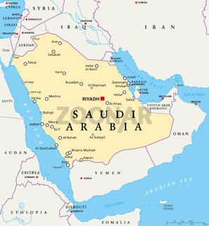 Saudi-Arabien politische Landkarte