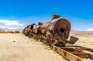 The abandoned rusty old train
