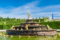 Latone fountain in royal residence Versailles, France