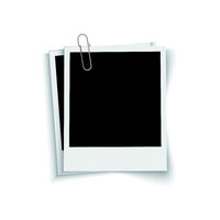 Blank photo frames with paper clip