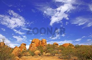 Landschaft im Areal des Erongo-Gebirges, Namibia; landscape at Erongo mountains, Namibia