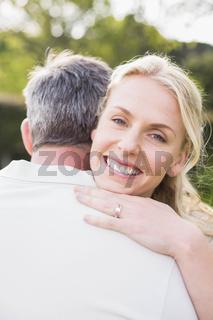 Cute couple hugging