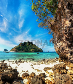 Tropical ocean landscape with Koh Tup island.Thailand