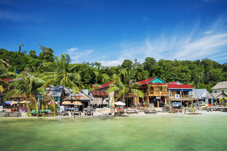 koh rong island main village in cambodia