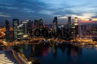 View of Singapore from Marina Bay Sands