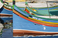 Fishingsboats on Gozo, Fischerboote auf Gozo