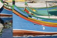 Fishingsboats on Gozo, Fischerboote auf Gozo