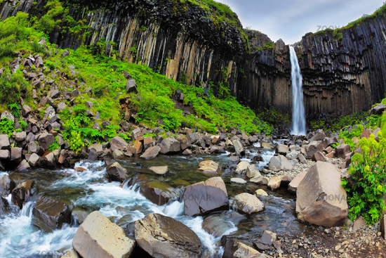 The waterfall Svartifoss