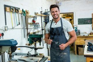 Carpenter smiling