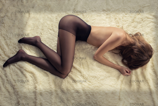 woman in tights