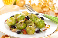 Baked Brussel sprouts.