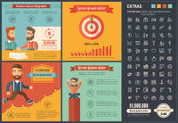 Business flat design Infographic Template