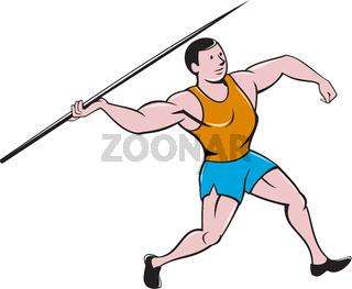 Javelin Throw Track and Field Cartoon