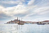 Old Istrian town of Rovinj or Rovigno in Croatia