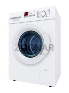 typical washing machine isolated