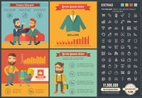 Shopping flat design Infographic Template