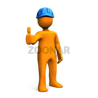 Manikin Blue Helmet