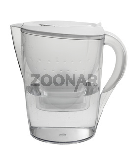 Water purification filter plastic jug