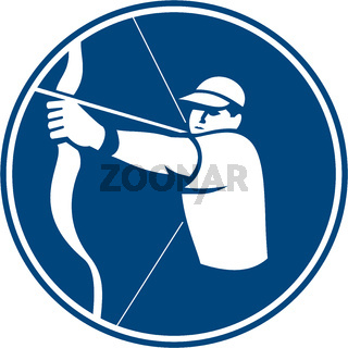 Archer Bow Arrow Circle Icon