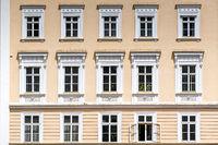 Barocke Häuserfassade in Salzburg