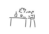 kind beim erbrechen am tisch
