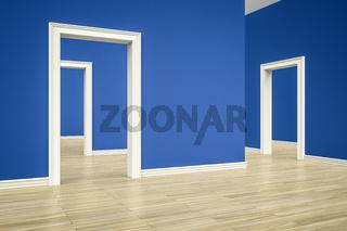 three rooms