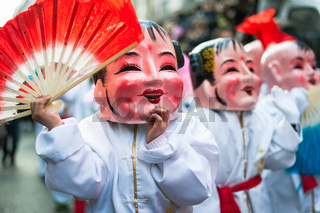 Chinese new year parade in Paris