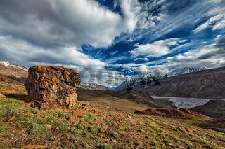 Himalayan landscape in Himalayas