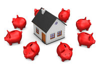 House Red Piggy Banks