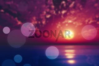purple sunset blur