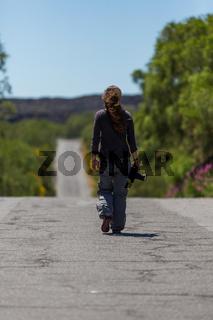 Fotograf auf dem Weg