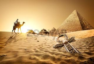 Pyramids and ankh