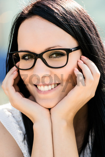 Woman with glasses - portrait