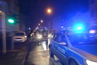 Polizeiauto in Fahrt
