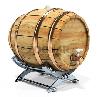3d wine barrel with stand