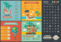 Travel flat design Infographic Template
