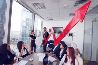 Business people and income growth