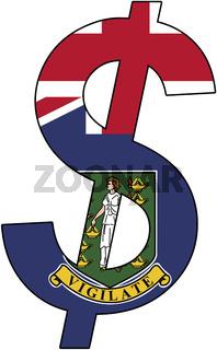 dollar - flag of british virgin islands
