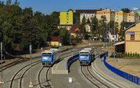 train station Jablonec nad Nisou view from the bridge