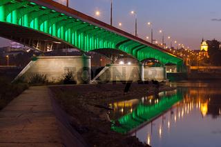 Slasko-Dabrowski Bridge at Dusk in Warsaw