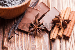 Chocolate with spices