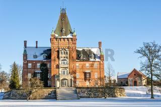 Trollenas Castle in Winter