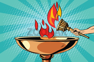 Fire torch bowl of fire