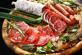 Antipasto and catering platter with different appetizers