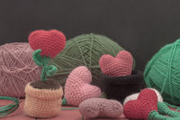 Valentine crochet decorations crochet hearts