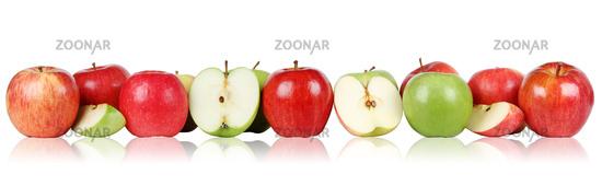 Apfel Früchte Äpfel in einer Reihe