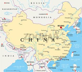 China politische Landkarte